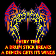 every time a drum stick breaks a demon gets its wings