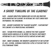a short timeline of the clarinet